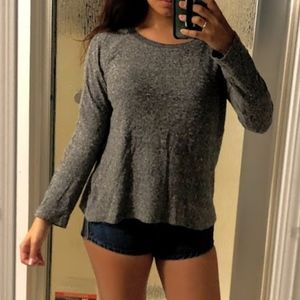 Zara Gray Marled Crewneck Sweater